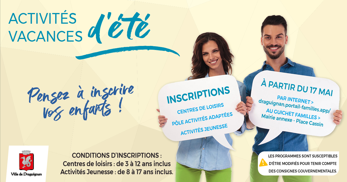 inscriptions activites jeunesse ete 2021