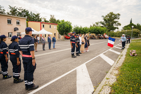 pompiers ceremonie coste